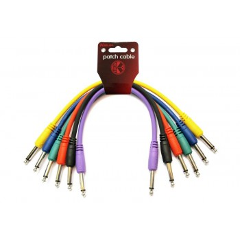 Pack 6 cables Patch 6,3 mono 6,3 mono. 15 cm. Kirlin