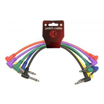Pack 6 cables Patch 6,3 mono a 6,3 mono en L. 30 cm. Kirlin