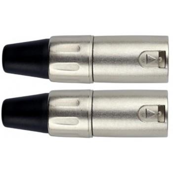 Conector XLR Macho. Pack 2 unidades. Kirlin