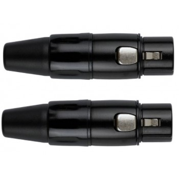 Conector XLR Hembra Negro. Pack 2 unidades. Kirlin